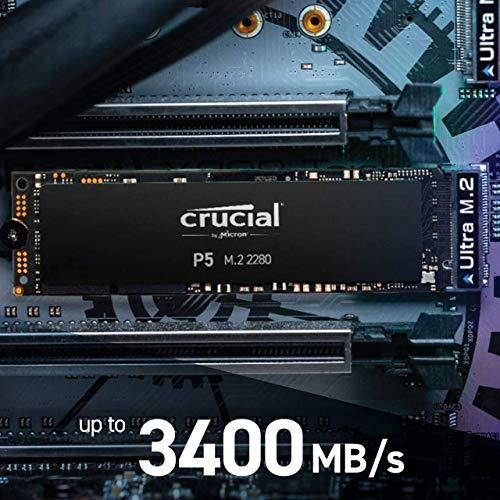 Crucial P5 500GB CT500P5SSD8 SSD Interno-Fino a 3400 MB/s (3D NAND, NVMe, PCIe, M.2, 2280SS)