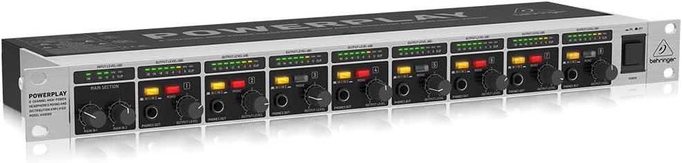 Black-Behringer 8 Channel Amplifier High Powerful