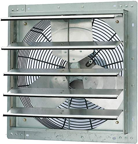Iliving ILG8SF18S Single Speed Shutter Exhaust Fan, Wall-Mounted, 18, Silver