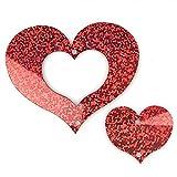 Colgante de plástico con forma de corazón para globos de helio y látex (forma de amor, azul) ausgehöhlte liebe rojo