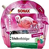 SONAX ScheibenReiniger gebrauchsfertig Pink Flamingo (3 l) sekundenschnell klare Sicht ohne Streifen und Schlieren | Art-Nr. 03894410