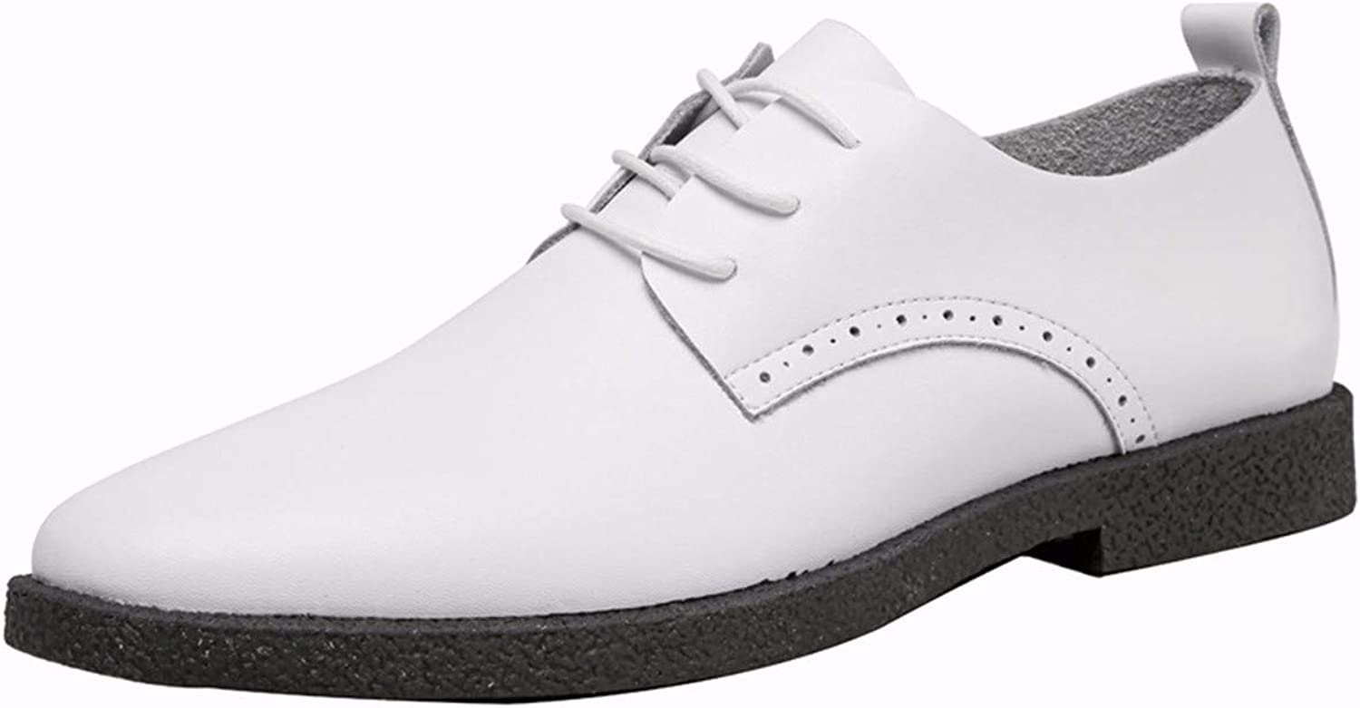 KMJBS Men'S shoes Bullock Carved shoes Summer Business Leather shoes Men'S Real Leather White.