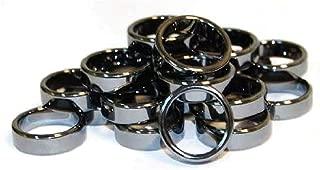 6mm Flat Hematite Rings (20/bag)