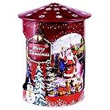 Lata de metal giratoria de Grandma Wild con caja de música musical Decoraciones navideñas con galletas de mantequilla y gotas de chocolate - 1 x 200 gramos