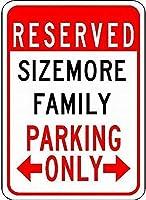 個人的な駐車場サインsizemore家族駐車場