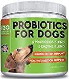 Pawfectchow Probiotics for Dogs + Natural Digestive Enzymes - Made in USA - 240 Billion CFUs Prebiotics Chews - Diarrhea, Gas, Constipation Relief - Improve Digestion, Allergy, Immunity, Hot Spots
