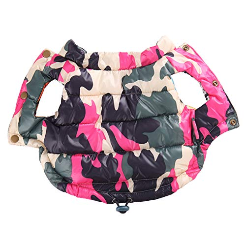 SWJ-Dog warm coat Capa del Perro del Otoño Caliente Acolcha