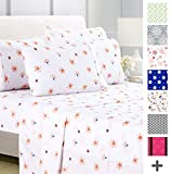 American Home Collection Deluxe 6 Piece Printed Sheet Set of Brushed Fabric, Deep Pocket Wrinkle Resistant -...