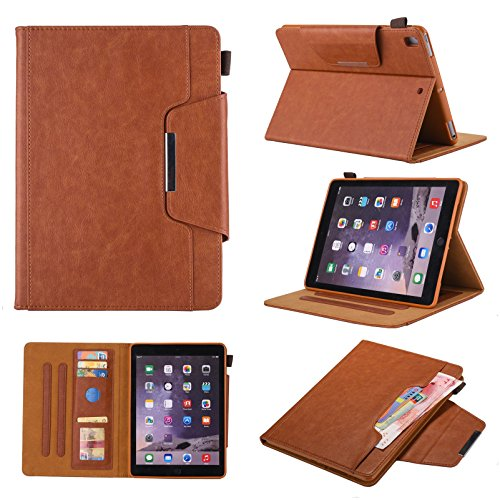 iPad 7th Generation Case, iPad 10.2 2019 Case with Pencil Holder,Bling Glitter Sparkly Folio Folding Stand Cover with Holder Auto Wake/Sleep Luxury Smart Case for iPad 10.2 inch 2019 (Brown)