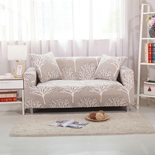 HYSENM 1/2/3/4 Sitzer Sofabezug Sofaüberwurf Sesselhussen elastisch farbecht hautfreundlich, Baum 4 Sitzer 235-300cm
