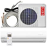 OLMO Alpic 9,000 BTU, 110/120V Ductless Mini Split Air Conditioner Heat Pump with 16ft Installation Kit