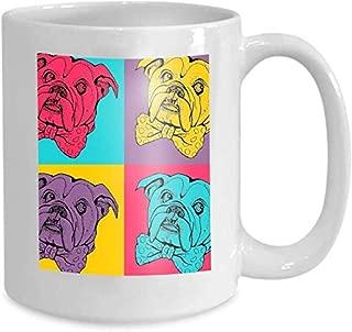 Mug Coffee Tea Cup pop Art Seamless Pattern Portrait Dog Bulldog Fashion Print Poster Textiles Design 110z