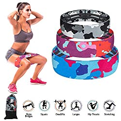 KIMILAR Hip Bands Booty Resistance Bands, 3 Pcs Resistance Band Exercise Bands for Booty & Thigh & Glutes Legs Thin Thighs Buttocks Hips, Non-Slip Soft Fitness Band Set Loops