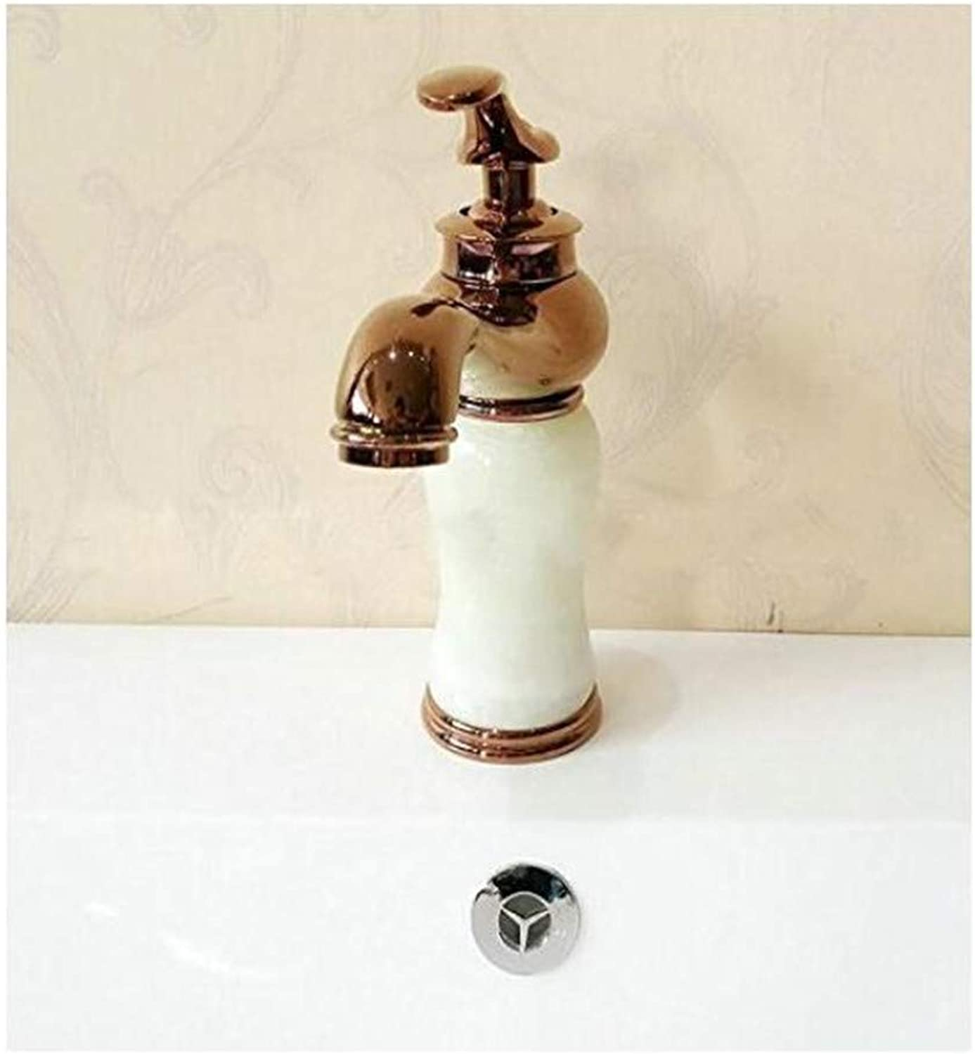 Faucet Luxury Modern Mixer Faucet Bathroom Wash Basin Faucet Senior Hot and Cold Water Single Hole Faucet Copper