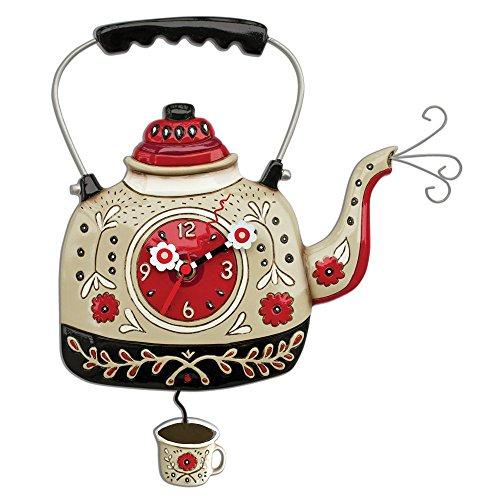 ENESCO Allen Designs Uhr, bullitore für Tee, 35cm, Kunstharz, Mehrfarbig, 28x 28x 35.6cm