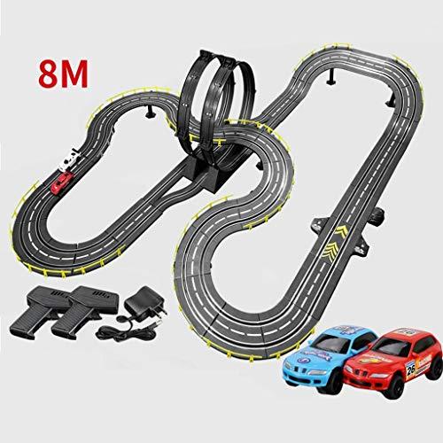 ZKW-Track 1: 43 Escala de la Pista Modelo 8M Sports Car Racing Empalme Categorías de formación unión de Bloques de Regalos de cumpleaños y cotillones (Size : Electric+Manual+4 Cars)
