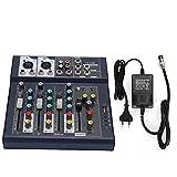 F4-USB Stage Performance Karaoke Live Medidores de Nivel Principal LED de 5 segmentos Mezclador de...