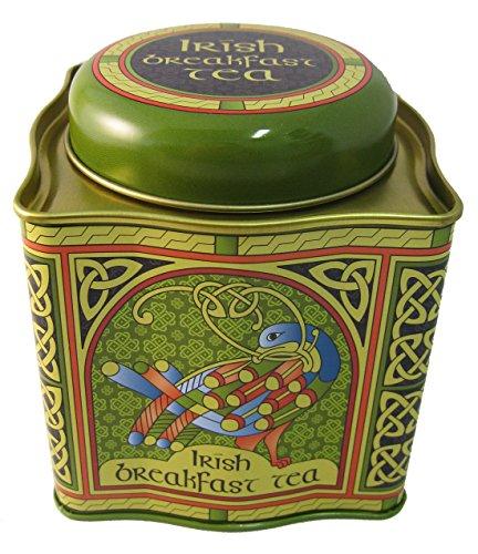 Royal Tara Traditionelle Irische Frühstück Schwarze Tee Dose mit 50 Teebeutel mit Keltische Pfau und Irish Weave Design