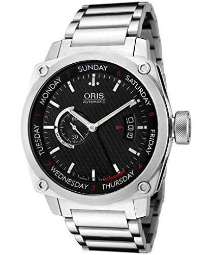 Oris Men's 4154MB BC4 Black Dial Bracelet Watch