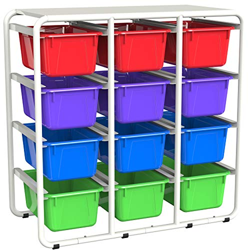 Storex Cubby Organizer, Classroom Storage for Books, Crafts and Supplies, White...