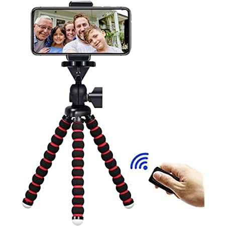 """Phone Tripod, Travel Portable and Adjustable Camera Stand Holder with Wireless Remote and Universal Clip for iPhone, Android Phone, Camera, Sports Camera GoPro(7.48"""")"""