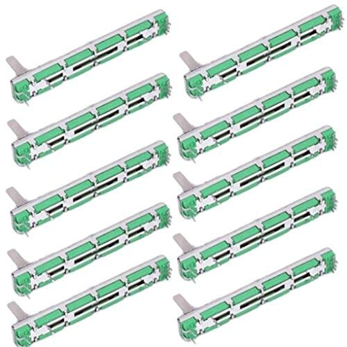 BeIilan Ersatz für Behringer Mixer 20pcs / Set Doppel Gerade Slide Potentiometer Fader 75mm B10K