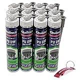 Lote Sellador de Poliuretano Gris para Agua Potable PU DW 0,6L + Llavero Bricolemar de Regalo (Gris)
