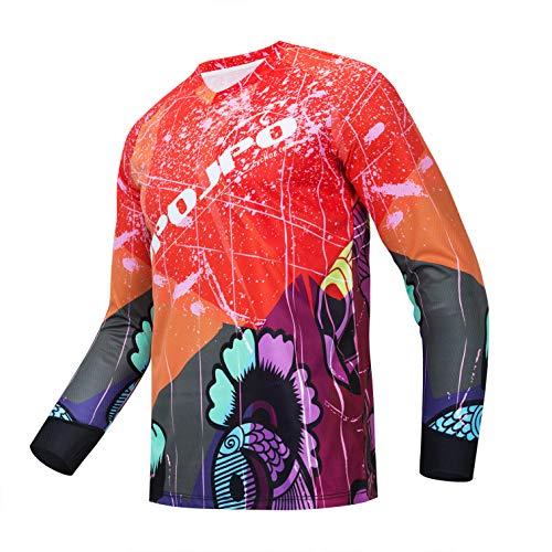 weimostar Maillot de ciclismo de los hombres de bicicleta de montaña motocross...