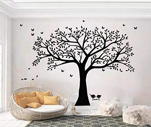Giant Family Tree Wall Decals Bird Stickers Decals Branches Wall Stickers for Living Room Nursery Room Wall Decor