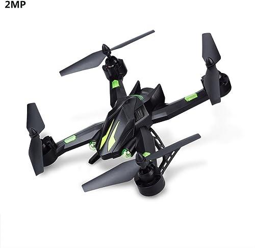 Drone 2MP Contrôle Vocal Grand Angle Selfie HD Live Caméra 2.4G RC Quadcopter Wifi Drone Altitude Tenue Mode Sans Capuche 3D Flips Rouleaux 4 Axe Gyro Gravité Capteur,2Batteries