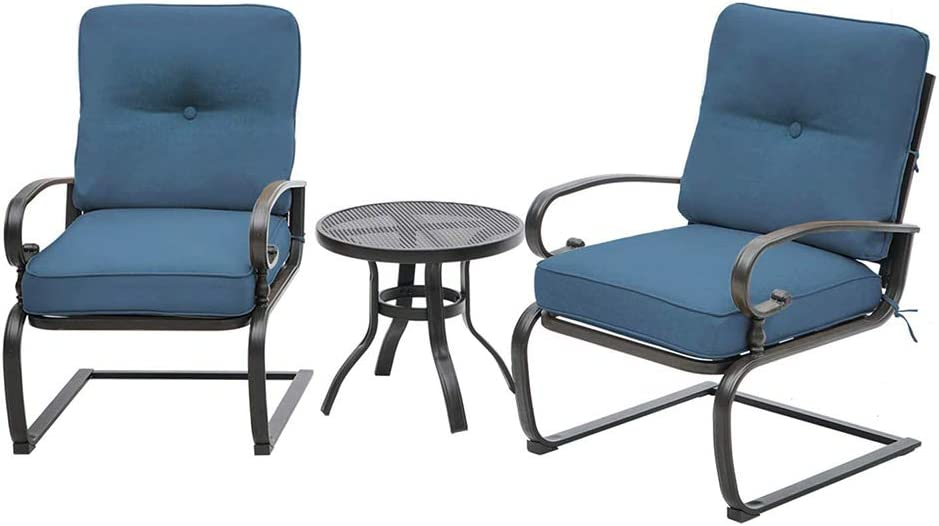 Incbruce Outdoor Indoor 3Pcs supreme Patio Courier shipping free Springs Cha Bistro Motion Set