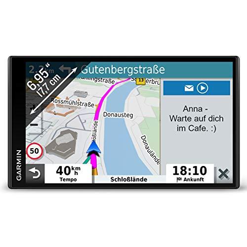 """Garmin DriveSmart 65 MT-D EU – Navigationsgerät mit 6,95"""" (17,7 cm) Farbdisplay, vorinstallierten 3D-Karten für Europa (46 Länder), Live Traffic via DAB+/Drive App, Sprachsteuerung & Fahrerassistenz"""