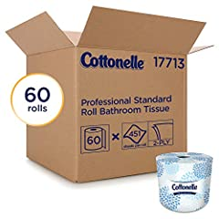 451 sheets per roll, 60 rolls per case, 27,060 sheets per bulk toilet paper case Cottonelle Toilet Paper, in 2-ply standard rolls, are an ideal choice for your business (retail, offices, hospitality, restaurants) when you want to make a first-rate im...