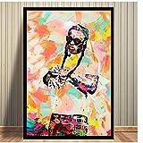 yhyxll Lil Wayne Aquarell Kunst Leinwand Ölgemälde Poster