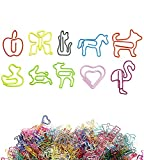 90 PCS 10 Style Bookmark Clip for Bookmark, About Five Styles Paper Clips Office School Notebook Agenda Pad,Stationery & Office Supplies (90 PCS)