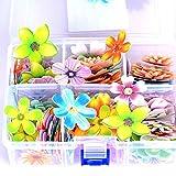 LICHENGTAI 100 Pièces comestibles Fleurs / Papillons en Papier Cupcake Dessert gâteaux Toppers fête danniversaire...