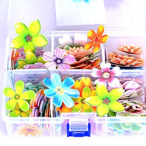 ISAKEN 100 Piezas Comestibles de Flores para Tartas de Boda, Toppers de Mariposas para Tartas Cupcakes Docoraciones de Tarta para Fiesta de Cumpleaños, Creativa de Postre Papel Glutinoso 3D Realista