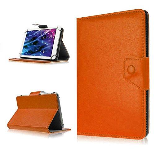 NAUC Tasche für Medion Lifetab P8502 Hülle Tablet Schutzhülle Case Cover Stand, Farben:Braun