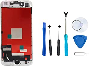 Compatible with iPhone 7 Plus Screen Replacement For Lcd Touch Screen Digitizer Frame Assembly Set with 3D Touch Free Tool Set Included (White)