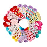 Hip Mall Assorted Non Skid Ankle Cotton Socks Baby Walker Toddler Anti Slip Crew Socks with Grip for Baby Boys Girls - Pink - 1-3 Years …