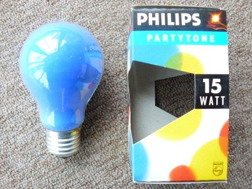 Pack 5Lámparas incandescentes gota Multicolor azul Party 15W E27230V