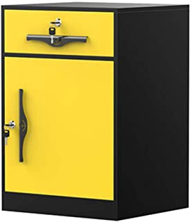 Classeur à 2 couches, armoire de rangement en fer avec serrure de ceinture de fer, couleur, bureau, bureau (65x45x40cm) (C...