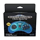 Retro-Bit Official SEGA Mega Drive Controller 6-Button Arcade Pad for Sega Mega...