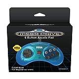 Retro-Bit Official SEGA Mega Drive 6-button Arcade Pad Blue [Importación inglesa]