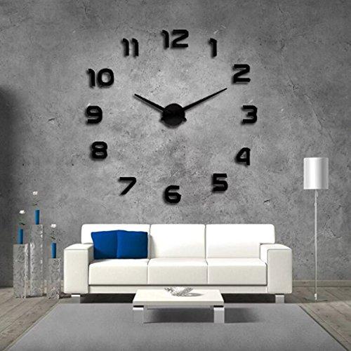 Lighting le nouveau Digital Horloge murale personnalisé Mode Creative Horloge murale DIY Horloge montre Design Grand Horloge murale