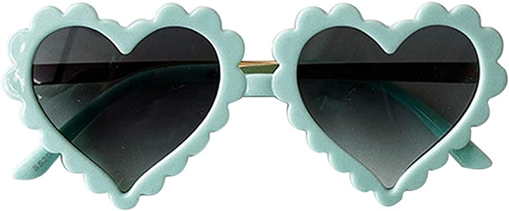 Springcmy Kids Girl Heart Shaped Baby Colorado Springs Mall Anti-UV Oakland Mall Vintage Sunglasses