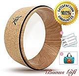 IVIM-Ruota da yoga,più forte e confortevole Dharma Yoga Prop Wheel per yoga poses,sughero in legno
