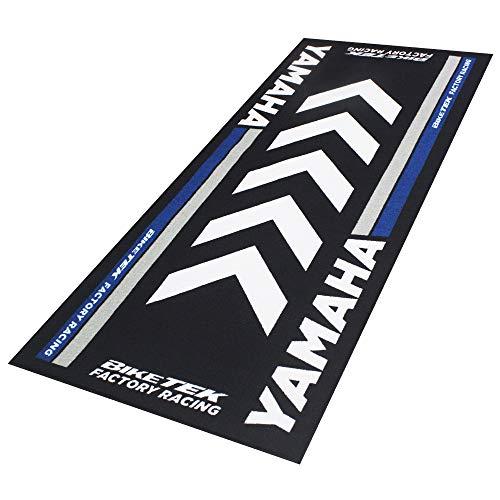 BIKETEK Alfombrilla para moto, alfombrilla para Yamaha Garaje Salón Showroom