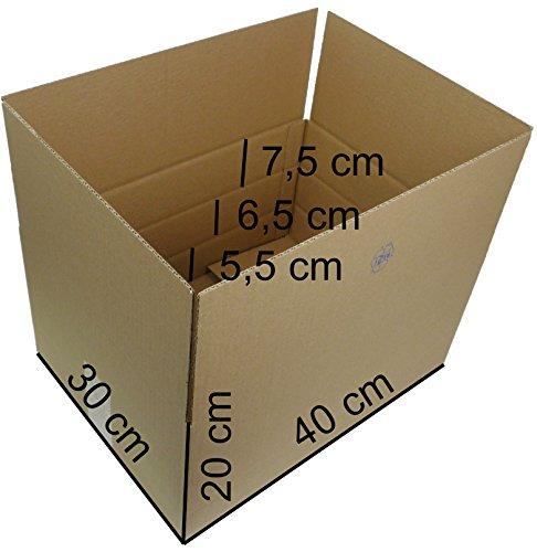 25 Faltkartons 400x300x200 mm, Versandkartons Kartons Faltschachteln
