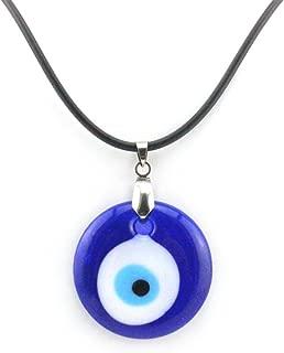 Turkish Evil Eye(Nazar) Pendant Blue Color Glass PVC String Necklace